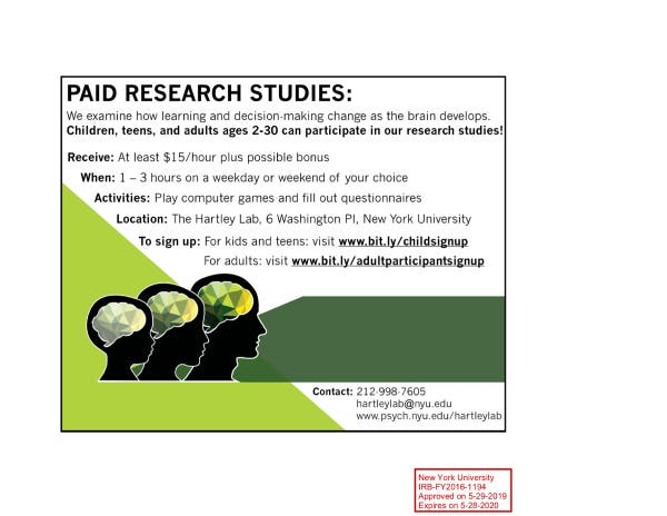 Sep 7 | Paid psychology research studies for kids and teens