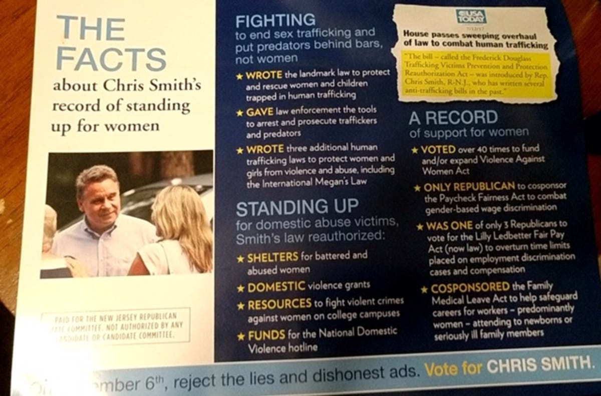 newest collection 8a796 83b7b Chris Smith's Real Record on Women's Issues | Freehold, NJ Patch