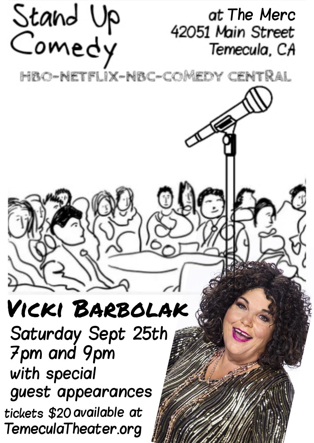 Stand Up Comedy at The Merc with VICKI BARBOLAK
