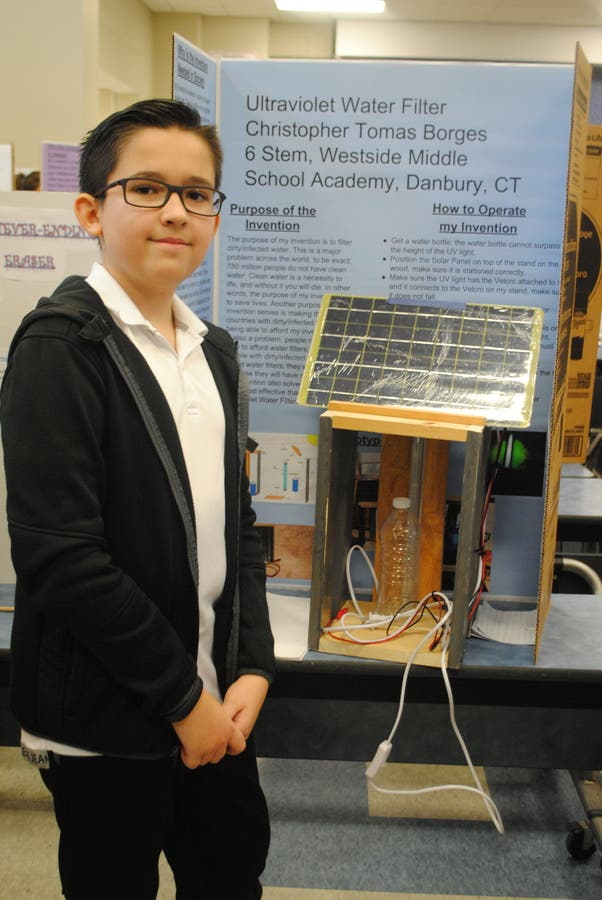 Winners of Westside Middle School Invention Convention