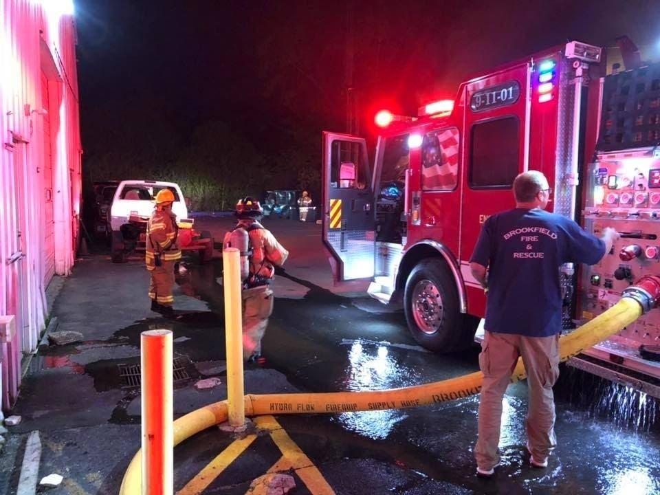 Fire Damages Brookfield Technology Center Building | Brookfield, CT