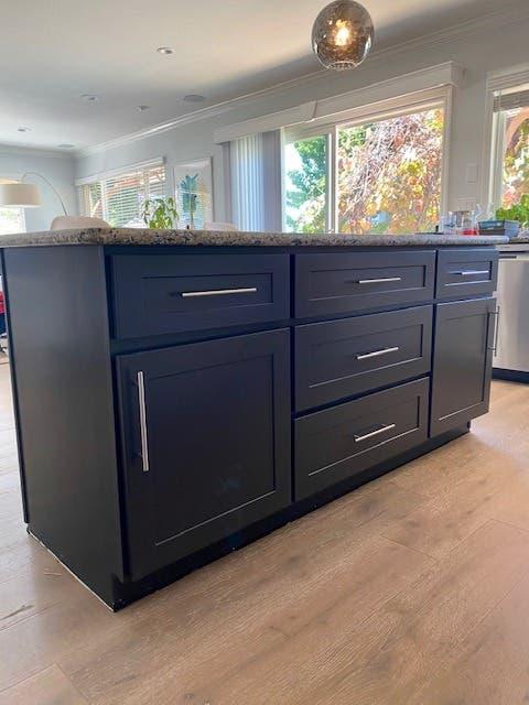 Custom Kitchen Island Cabinet with Slab Granite Top $1,000 ...