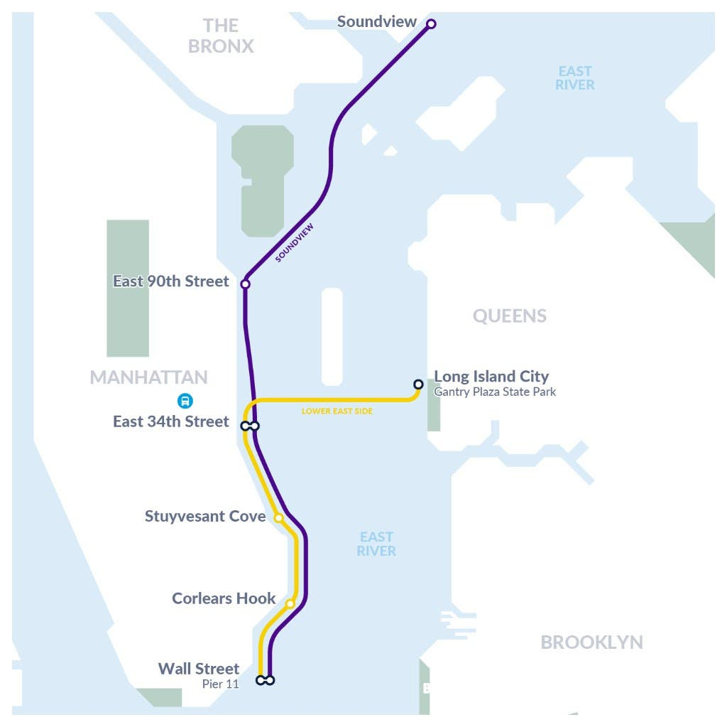 Lower East Side Ferry Route To Launch This Month   Lower ... on hudson river, upper east side, hell gate bridge, brooklyn heights, battery park, williamsburg bridge, manhattan bridge, map of hudson river nyc, long island sound, harlem river, rikers island, map of manhattan, hell gate, triborough bridge, map of upper east side nyc, queensboro bridge, rivers manhattan nyc, map of east village nyc, north brother island, east river park nyc, map of new york city neighborhoods, roosevelt island, south brother island, the narrows, throgs neck bridge, united nations headquarters,