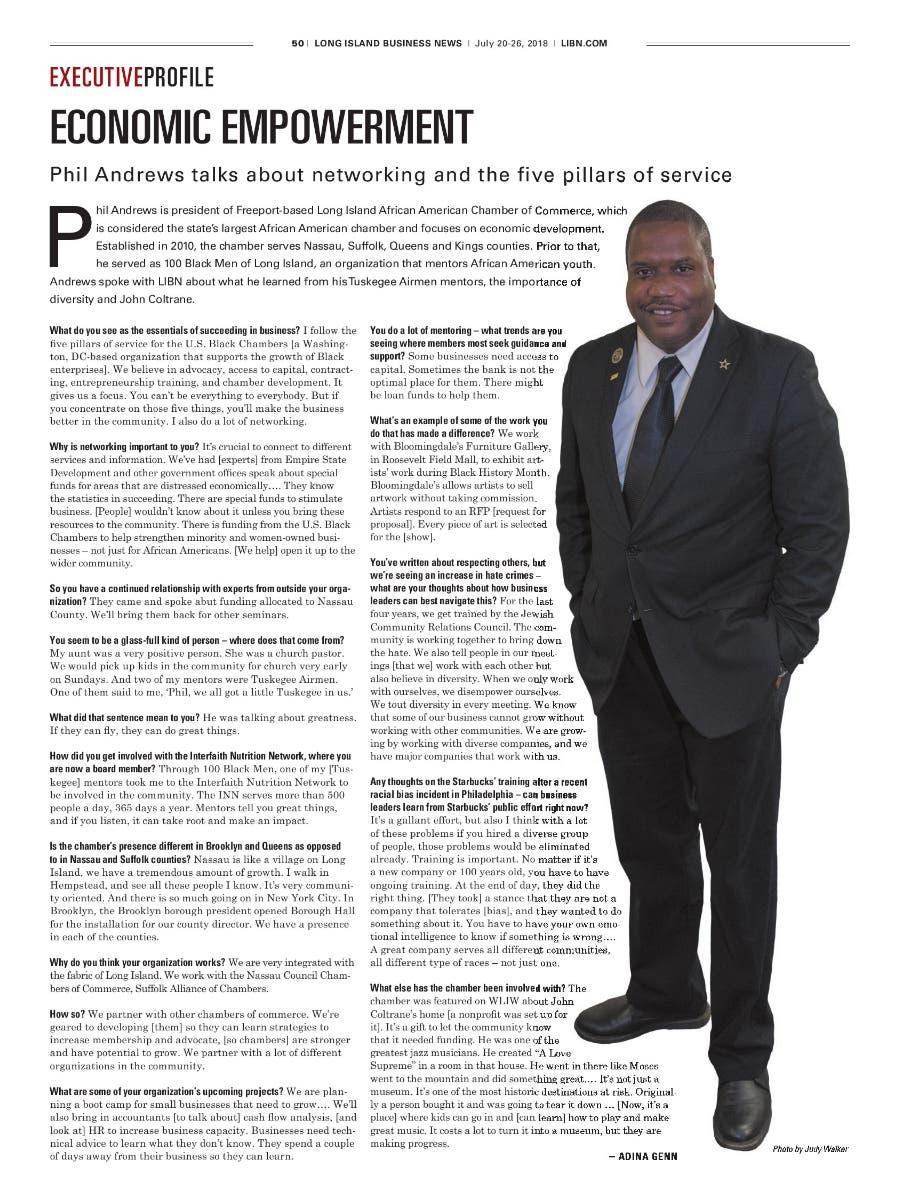 SBA Names Brooklyn Native Phil Andrews LIAACC President