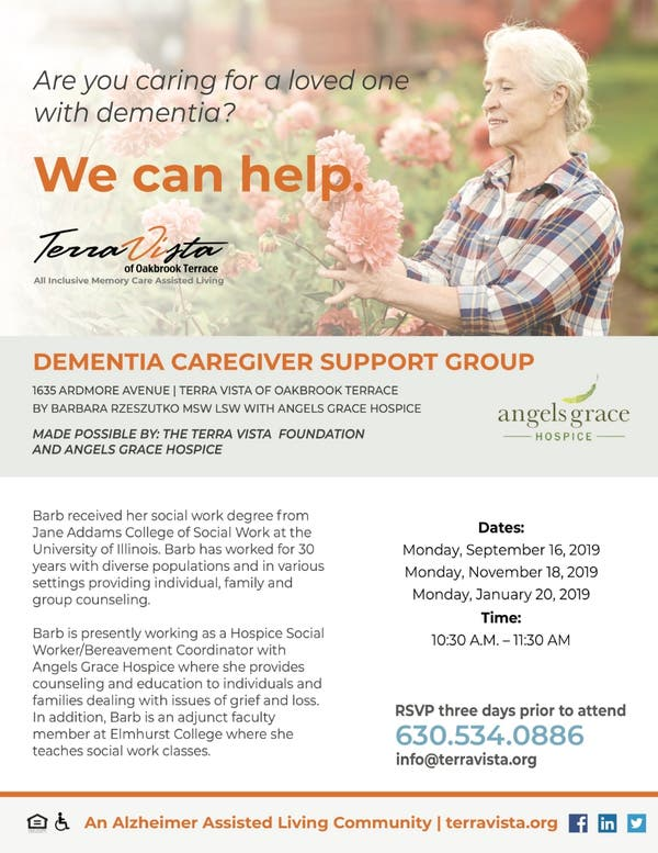 Sep 16 dementia caregiver support group oak brook il - Garden state healthcare associates ...