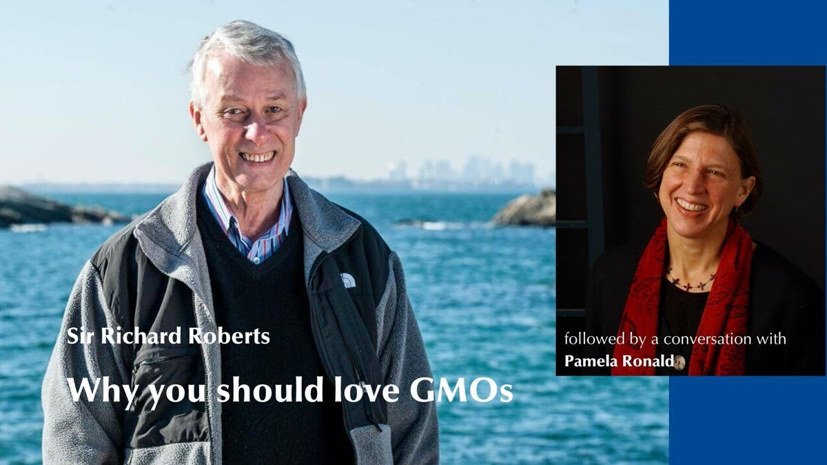 """Live: Nobel laureate Rich Roberts - """"Why you should love GMOs"""""""
