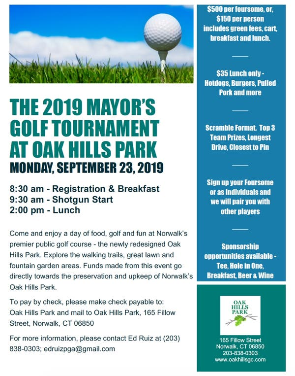 2019 Mayor's Golf Tournament At Oak Hills Park