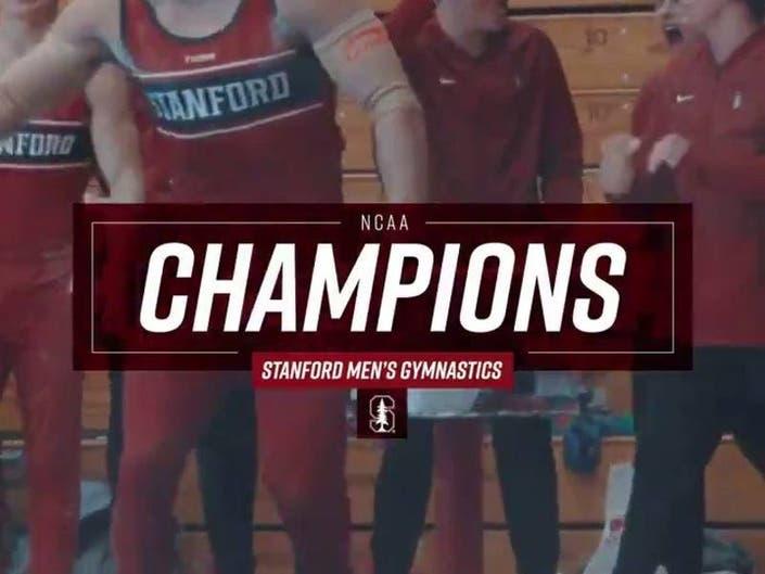 Stanford Mens Gymnastics Team Rung Up NCAA Title