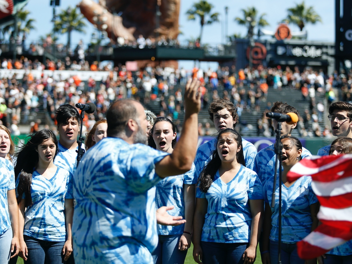 Gilroy High School Choir Performed National Anthem For SF Giants