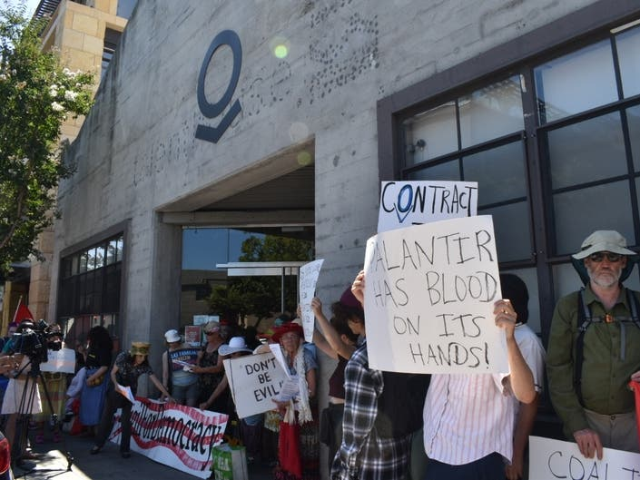 Activists Block Palo Alto Co.s Offices To Protest ICE Support