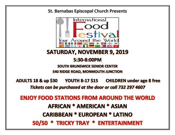 St. Barnabas Episcopal Church Presents International Food Festiva