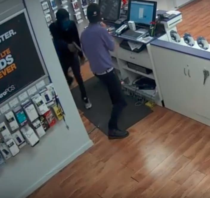 Robbery At Cell Phone Store Captured On Video