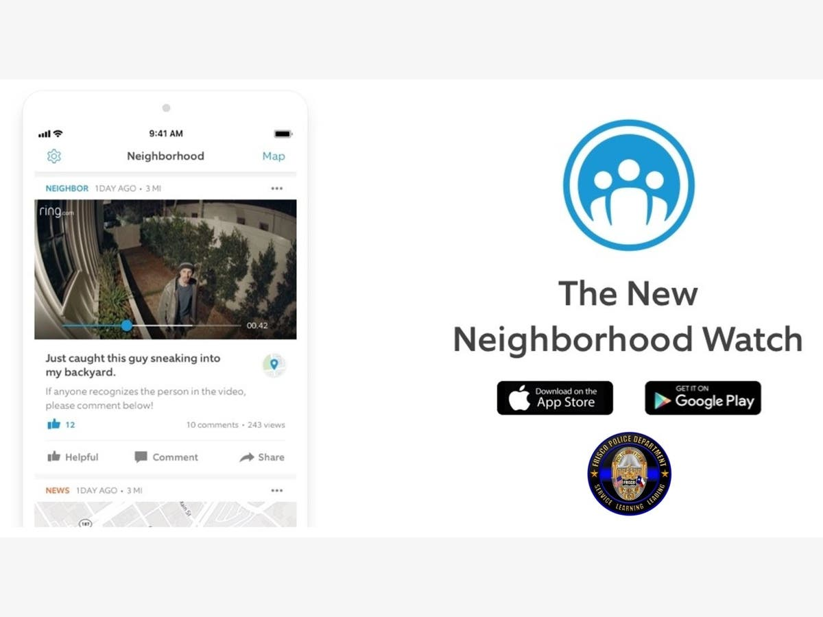 Frisco Police Joins Ring's 'Neighbors' Public Safety Network