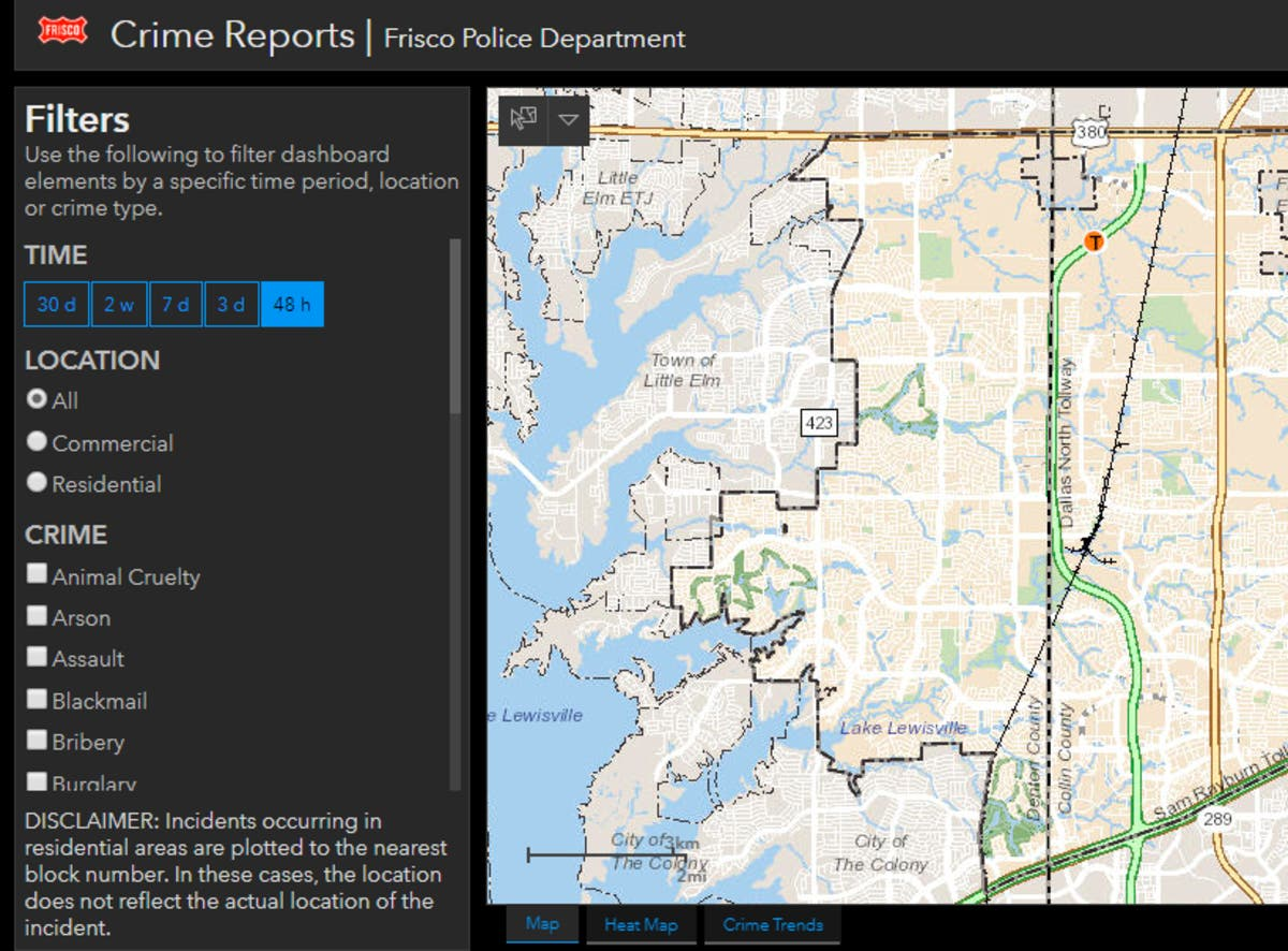 New Crime Map Now Available Through Frisco Police | McKinney