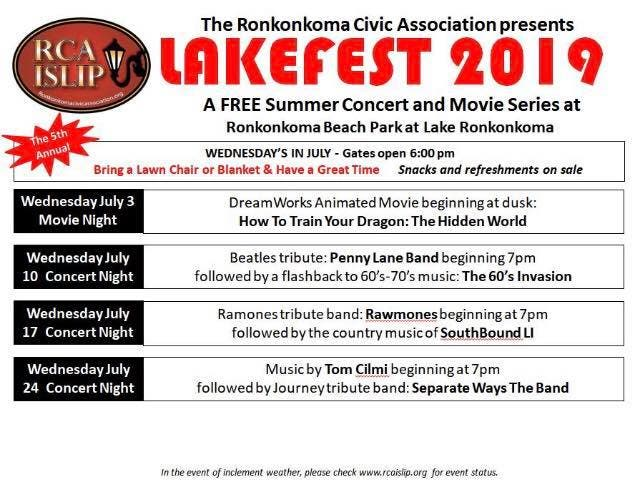 Lakefest 2019: Beatles, Ramones, Journey Cover Bands, Movies