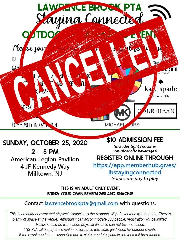CANCELLED:Lawrence Brook PTA Fundraiser - Raffle Prizes & Vendors