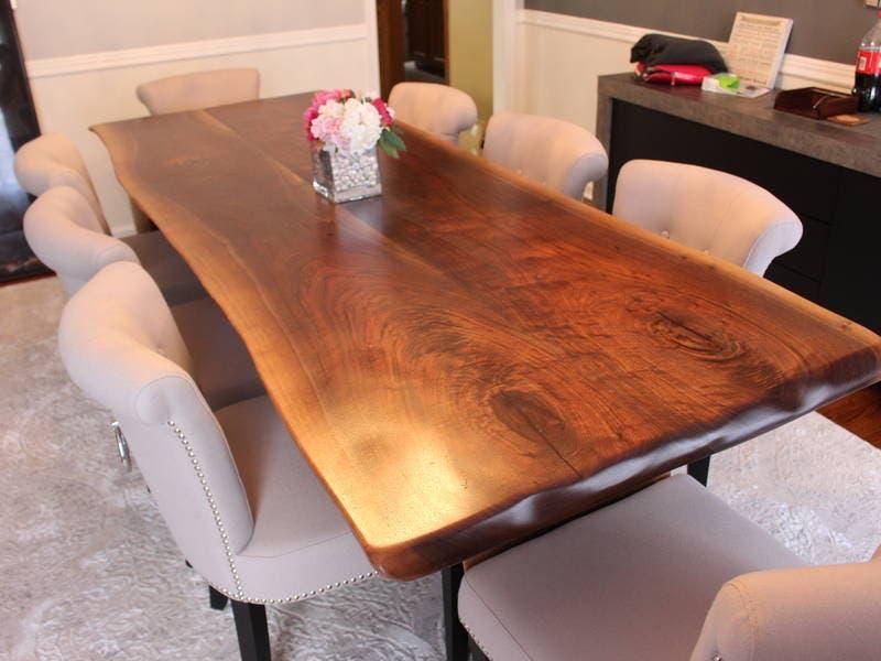 Walnut Slab Tables Custom Wood Restaurant Table Tops Barn Doors 0