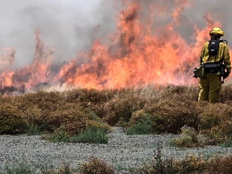 Fast moving brush fire in Perris, ca   Lake Elsinore, CA Patch