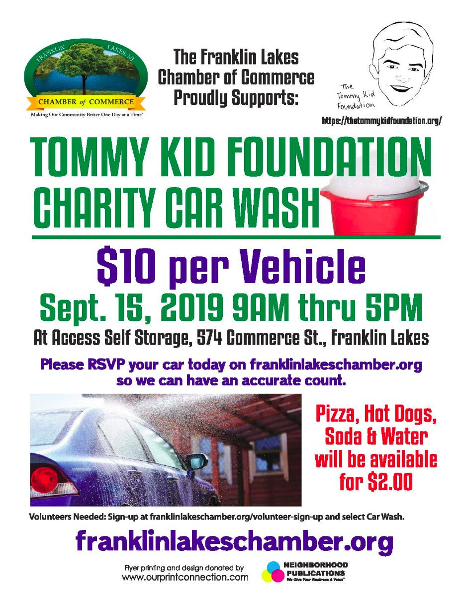 Sep 15 | Franklin Lakes Chamber Tommy Kid 1st Annual Charity