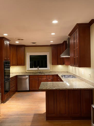 Cherry Kitchen Cabinets With Granite Countertops Viking Cooktop Old Town Alexandria Va Patch