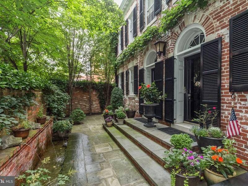 Stately Georgetown Home Has Private Garden, Elevator, Wine Cellar