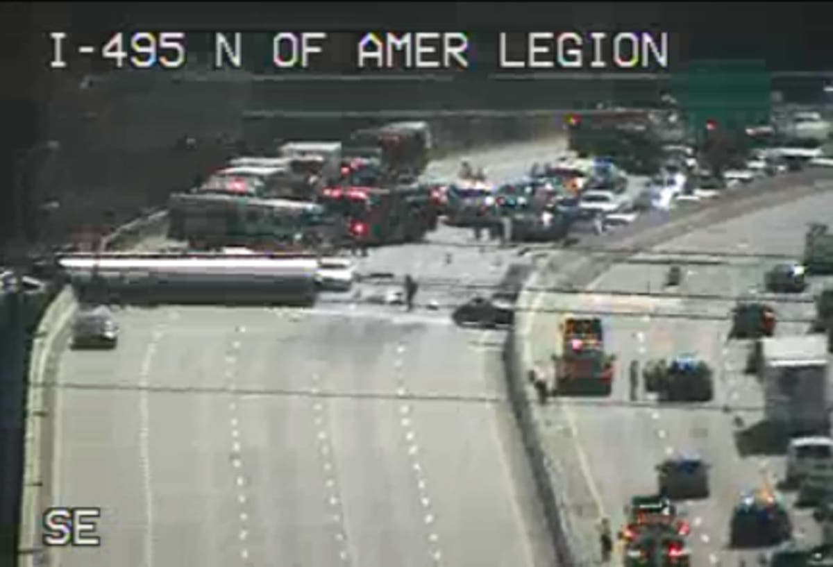 Commuters Trapped In I-495 Traffic By Crash Share Horror