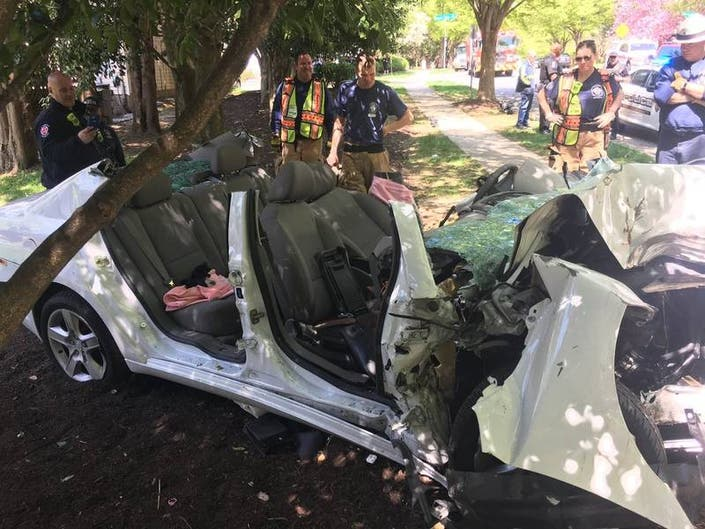 Crews Rescue Person Trapped In Mangled Car After Crash