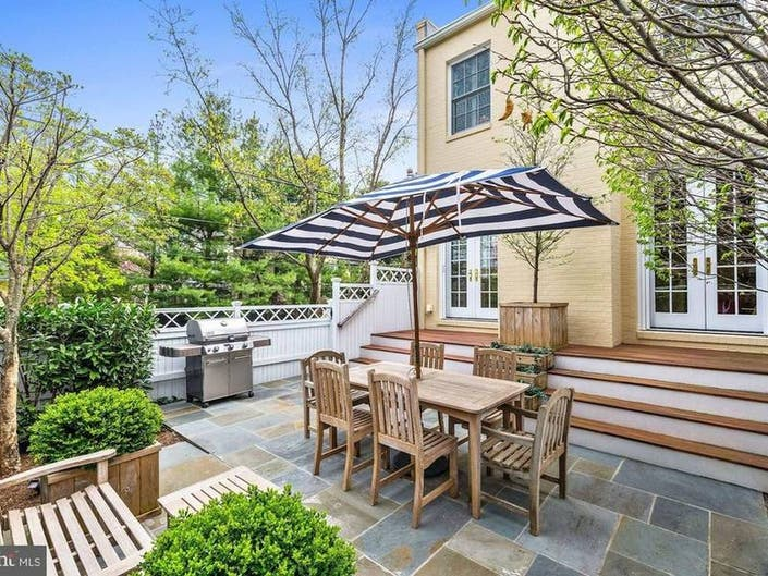 Airy 1919 Georgetown Home Boasts Private Garden Patio, Front Yard