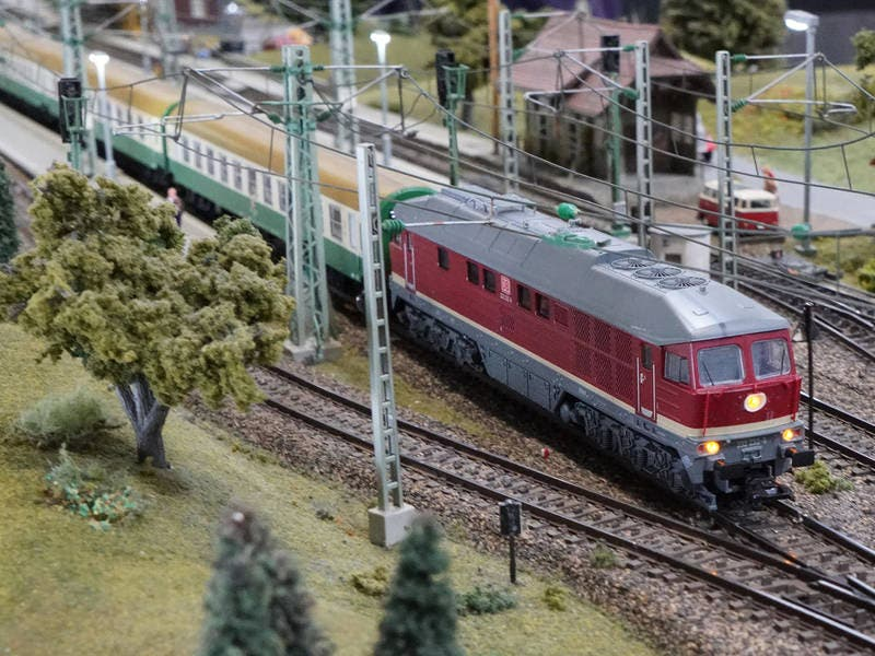 MODEL TRAIN LAYOUT at Blackhawk Plaza Benefits Toys For Tots