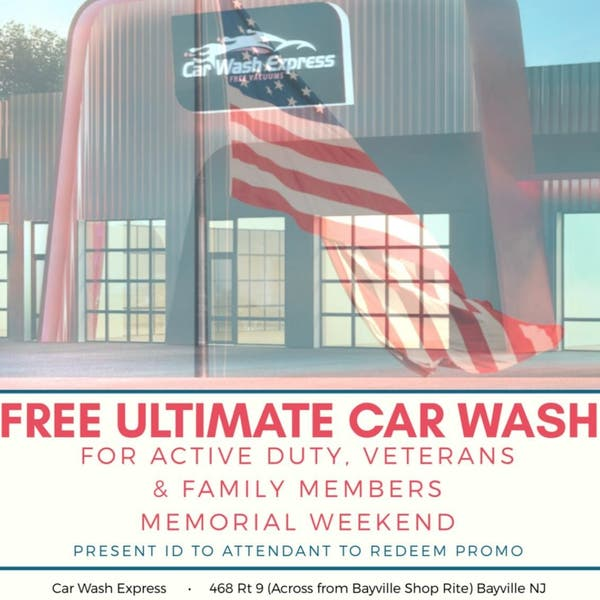 Memorial Day Weekend- FREE CAR WASH For Active Duty