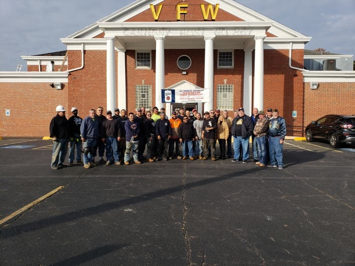 Veterans Day Came Early Cantigny Vfw Post Gets New Roof