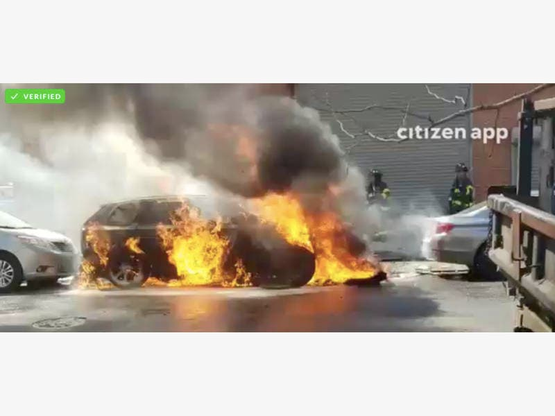 WATCH: FDNY Battles Car Fire In Williamsburg