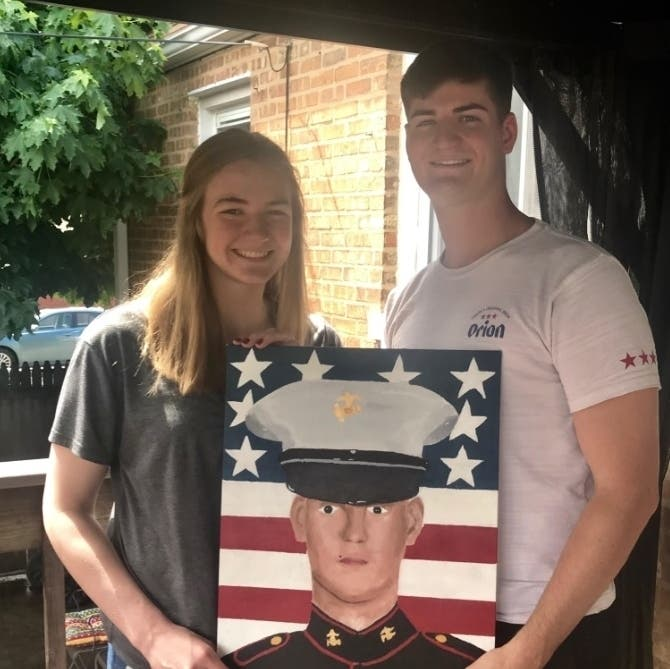 EPCHS Student Honors Her Brother's Military Service Through Art