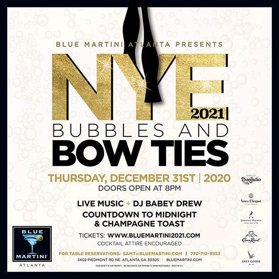 Dec 31 | BUBBLES AND BOW TIES: New Years Eve 2021 | Buckhead, GA Patch