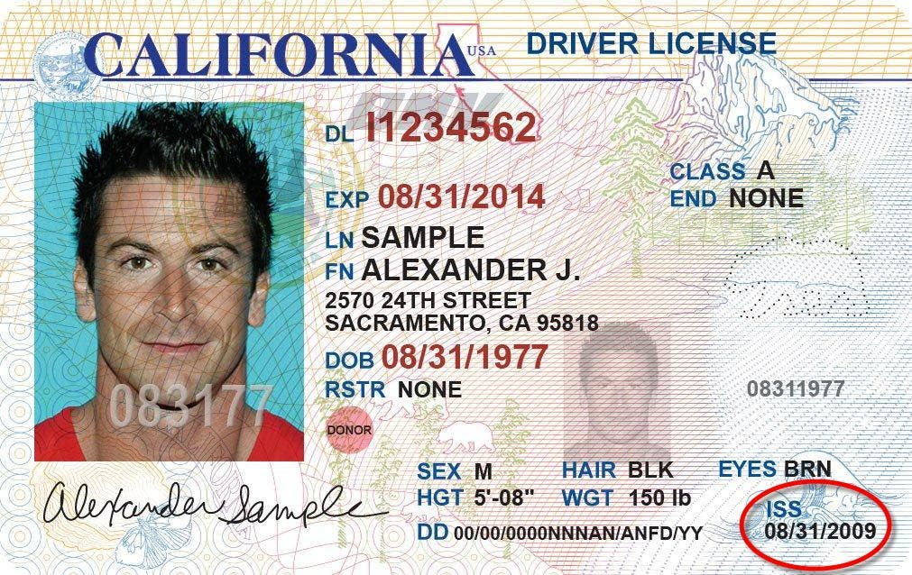 documents required for drivers license in california