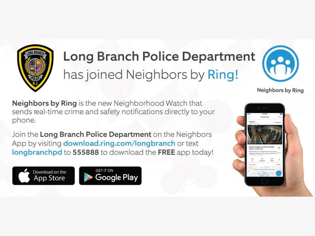 Long Branch PD Joins Crime Alert App  You Can Too  | Long