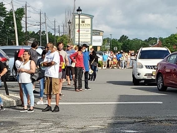 Manahawkin Mvc Sees Long Lines On Reopening Day Barnegat Nj Patch