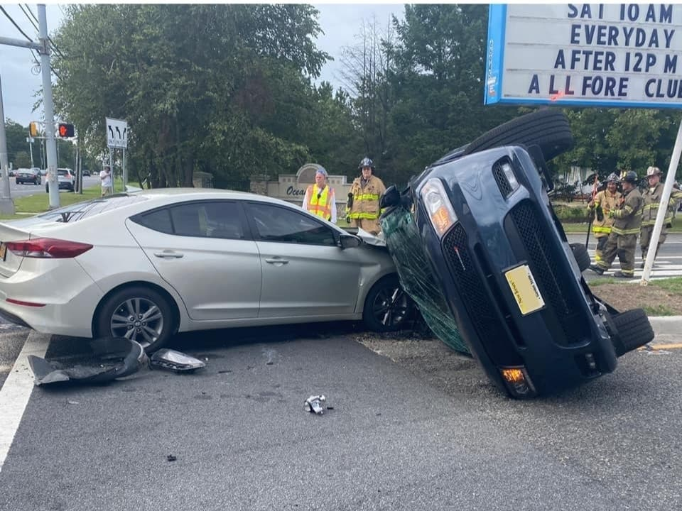 Vehicle Overturns In Crash On Route 72 In Manahawkin Barnegat Nj Patch