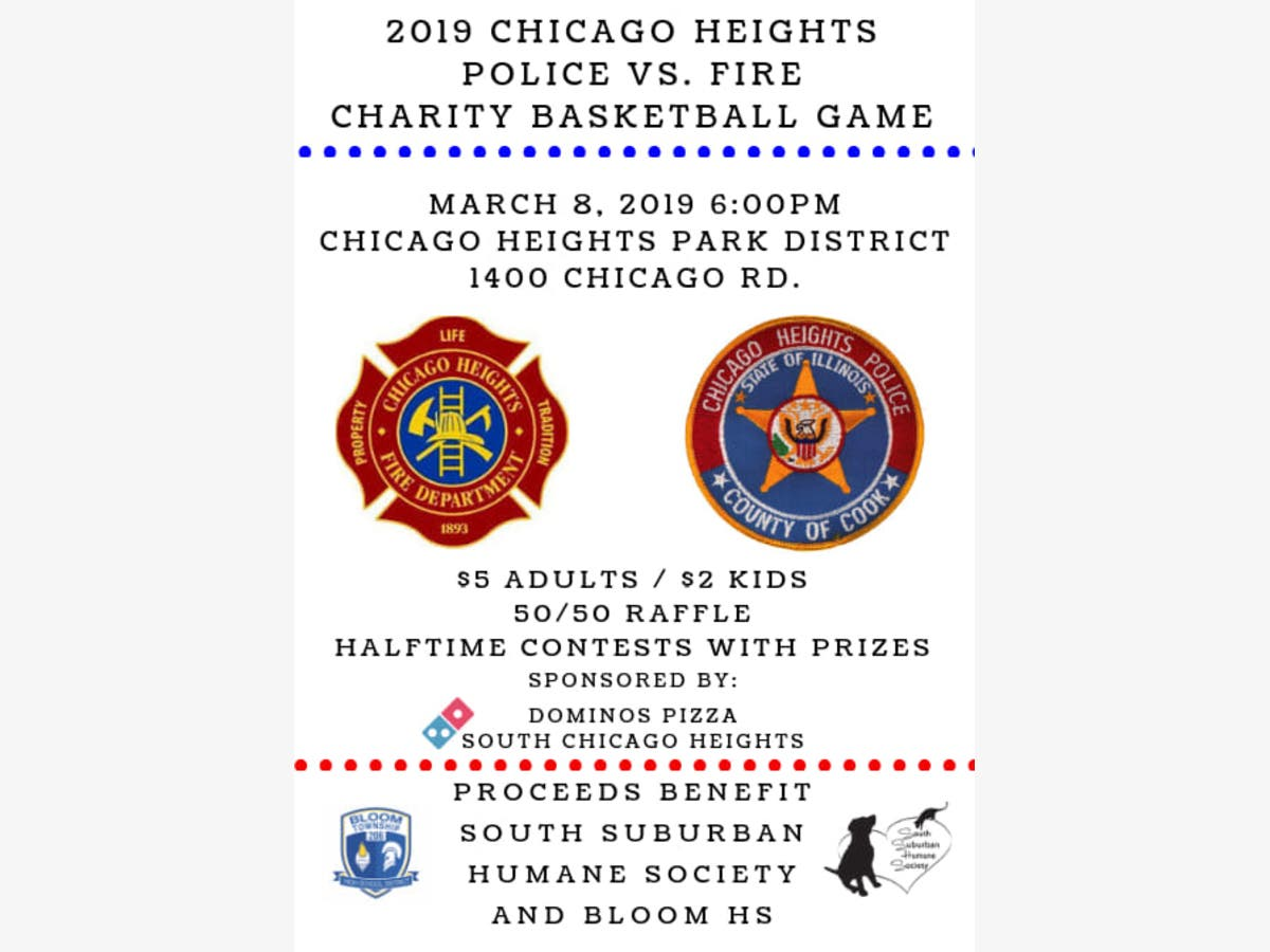 Chicago Heights Fire Vs  Police In Charity Match-up Friday