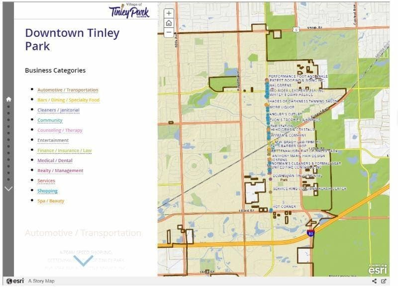 Tinley New Downtown Map Puts Amenities At Your Fingertips ...