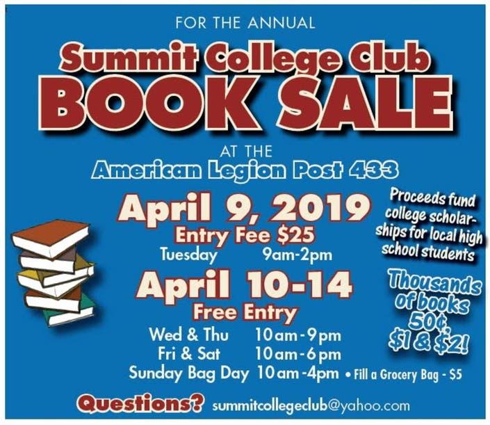 College Books For Sale >> Summit College Club Book Sale Summit Nj Patch