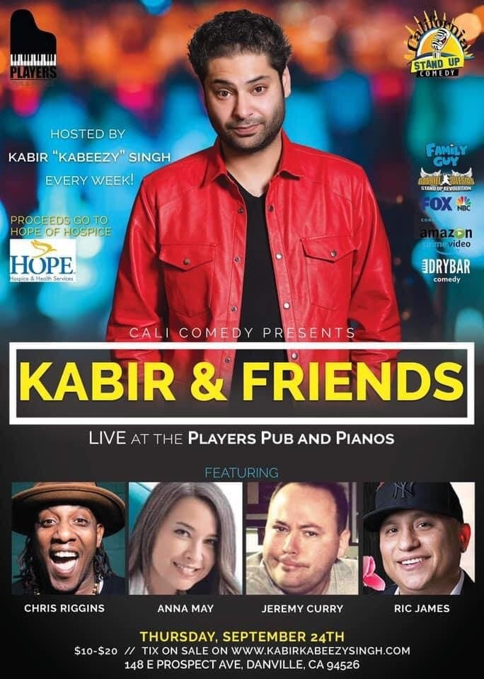 Weekly Cali Outdoor Comedy Series with Kabir Singh and Friends