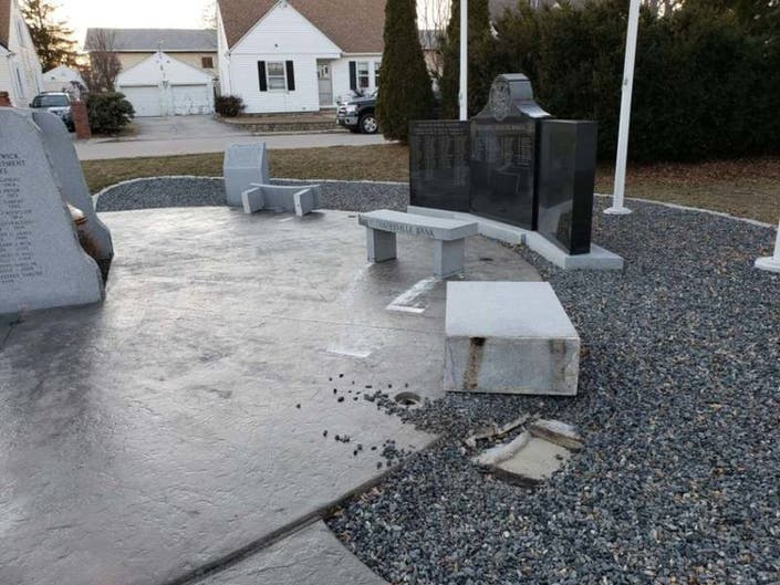 West Warwick Firefighters Memorial Vandalized | Coventry ...
