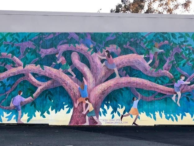 Muralist Paints Tree Of Life At Providence School: Patch PM
