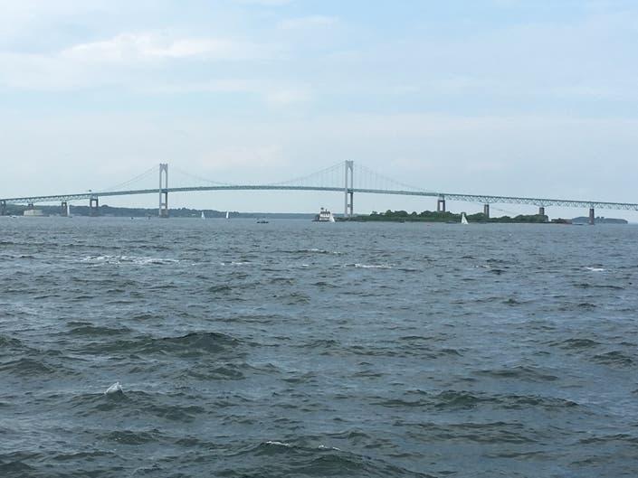 Newport Bridge Approach Going Dark Overnight