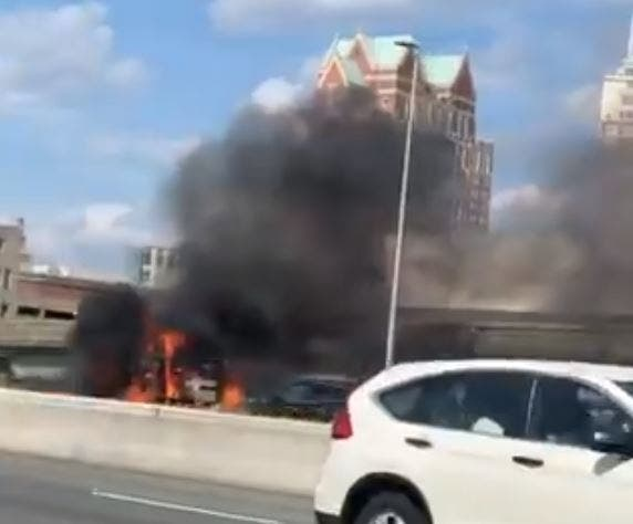 Fiery Crash Brings I-95 North To A Standstill: Patch PM