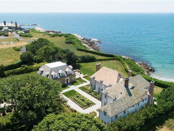 $11.4 Million Newport Estate Includes Private Beach