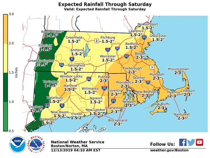RI Weekend Weather: Flood Watch In Place Ahead Of Heavy Rain