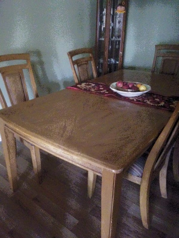 Wood Dining Table w/leaf and 6 chairs - Mahwah, NJ Patch