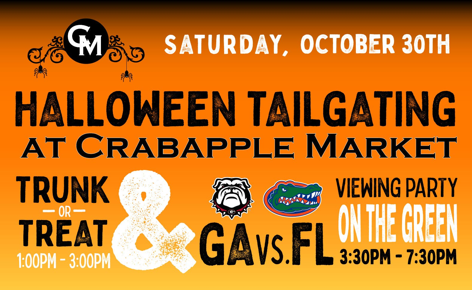 Halloween Tailgating - Trunk or Treat/GA vs. FL Football Game Viewing Party at Crabapple Market